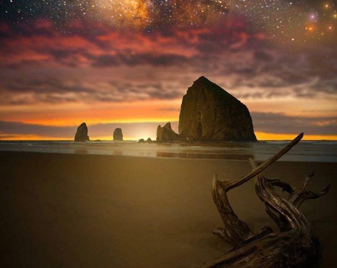 Haystack Rock - photo by @throughhuntersvision