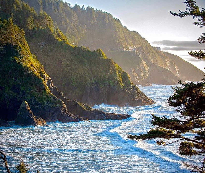 Coastal Highway 101, Oregon Coast - photo by @johnsloan67