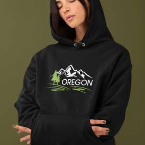 9) Oregon Mountains – Premium Hoodie