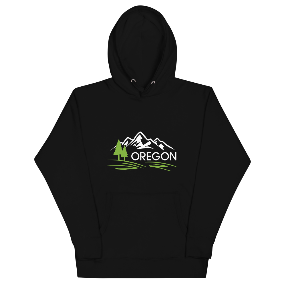 9) Oregon Mountains – Premium Hoodie