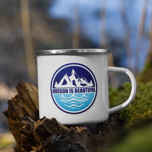 Oregon is Beautiful - Enamel Mug
