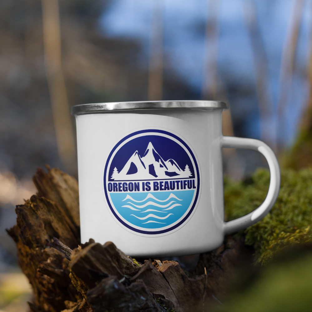 Oregon is Beautiful - Enamel Mug