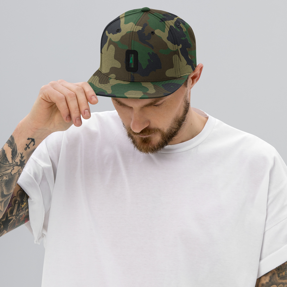 O (FOR OREGON) - GREEN CAMO SNAPBACK