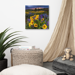 SPRING FLOWERS - 16X16 Canvas Wrap Print
