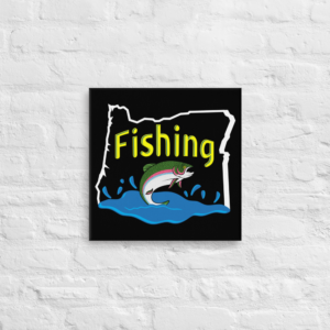 FISHING OREGON - 16X16 Canvas Wrap Print