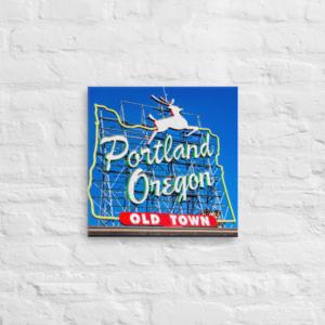 Portland Old Town - 16x16 Canvas Wrap Print
