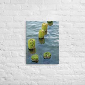 COLUMBIA RIVER PILINGS - 18X24 Canvas Wrap Print