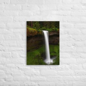 SILVER FALLS - 18X24 Canvas Wrap Print