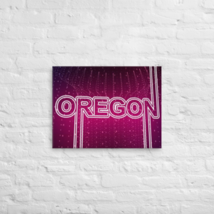 OREGON - 18X24 Canvas Wrap Print