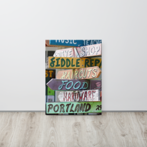 SIGNS - 18X24 Canvas Wrap Print