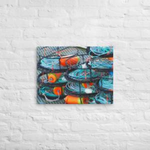 CRAB POTS - 18X24 Canvas Wrap Print