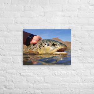 FISHING IN OREGON - 18X24 Canvas Wrap Print