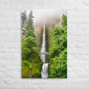 Multnomah Falls - 24x36 Canvas Wrap Print