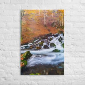 FALL STREAM - - 24X36 Canvas Wrap Print