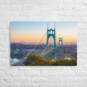 ST JOHNS BRIDGE - 24X36 Canvas Wrap Print