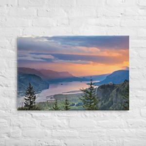 COLUMBIA RIVER GORGE - 24X36 Canvas Wrap Print