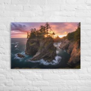 OREGON COAST SUNSET - 24X36 Canvas Wrap Print