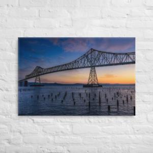 ASTORIA BRIDGE SUNSET - 24X36 Canvas Wrap Print