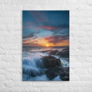 COASTAL SUNSET - 24X36 Canvas Wrap Print