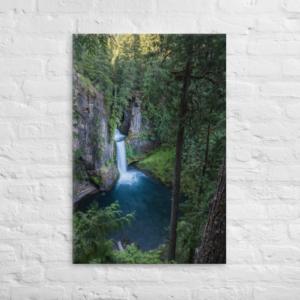 TOKETEE FALLS - 24X36 Canvas Wrap Print